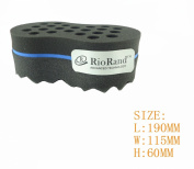 RioRand® Magic Twist Hair Sponge,Barber Sponge Brush 2 in 1,10 & 16 mm Hole diamete(Dimension