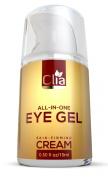 Best Eye Cream for Wrinkles, Puffiness, Bags & Dark Circles - Natural Under Eyes Anti Ageing Gel with Hyaluronic Acid, Jojoba Oil, Peptides for Men & Women