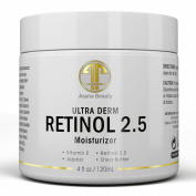 Best Retinol 2.5% Night Cream, HUGE 120ml Moisturiser for Face & Eyes - Best Anti Ageing & Anti Wrinkle Firming Cream for Fine Lines, Wrinkles & Dry Skin, Natural Lotion with Vitamin C,E & Jojoba Oil