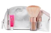 Beauty Essentials Kit Victoria's Secret Hot Summer Nights Noire Tease 7ml 0.23oz Beauty Rush Lip Gloss , Instant Brozing Shimmer Powder 4.25g / 0.15oz & Mirror