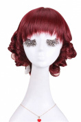 Nouqi® Womens Cute Lolita Short Bobo Neat Bang Curly Cosplay Hair Wig