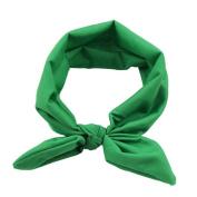 Sunward Women Yoga Elastic Rabbit Bow Hairband Turban Knotted Hair Band Headband