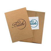 """Conscious Ink """"Breathe"""" Manifestation Tattoo Greeting Card With Temporary Tattoo"""