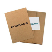 """Conscious Ink """"Courage"""" Manifestation Tattoo Greeting Card With Temporary Tattoo"""