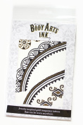 Luxury Fashion Gold Foil Temporary Tattoos 4 Sheet Sets