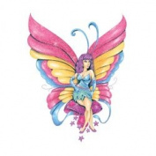 Sparkled Sugar Tattoos, 10 sheets, temporary tattoos, colourful and shimmery butterflies, rainbow, bird, fairy, fox, hot air balloon, and more