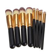 VALUE MAKERS 8 Pcs Beauty Makeup Brushes-Face Foundation Blending Powder Eyeshadow Professional Makeup Brush Set-Kabuki Brush-Makeup Brushes Set+Portable Makeup Bag Free
