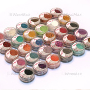 US Seller! Brithday Gift! Brand New 30 Pieces Cold Smoked Warmer Glitter Shimmer Pearl Loose Eyeshadow Pigments Mineral Eye Shadow Dust Powder Makeup Party Cosmetic Kit BE#