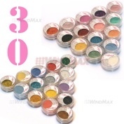 US Seller! Brithday Gift! Brand New 30 Pieces Cold Smoked Warmer Glitter Shimmer Pearl Loose Eyeshadow Pigments Mineral Eye Shadow Dust Powder Makeup Party Cosmetic Kit AE#