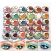 30 Pieces Mulit Colour Cold Smoked Warmer Glitter Shimmer Pearl Loose Eyeshadow Pigments Mineral Eye Shadow Dust Powder Makeup Party Cosmetic Set BE#