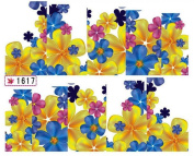 1 Sheet Good-looking Flowers Colourful Decals Water Transfer Manicure Tips Popular Nail Art Stickers Colour Code25
