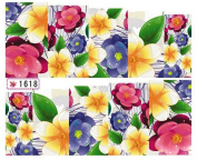 1 Sheet Gorgeous Flowers Colourful Decals Multi Mix Self Adhesive Popular Nail Art Stickers Colour Code26