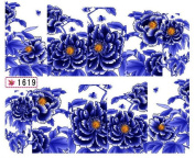 1 Sheet Graceful Flowers Manicure Tips Wraps Decoration Easy Attach Popular Nail Art Stickers Colour Code27