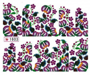 1 Sheet Bright Flowers Multi Mix Foils Glitter Manicure Tips Popular Nail Art Stickers Colour Code11