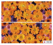 1 Sheet Delicate Flowers Self Adhesive Multi Mix 3D Painting Popular Nail Art Stickers Colour Code18