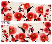 1 Sheet Good Flowers 3D Painting Foils Glitter Manicure Tips Popular Nail Art Stickers Colour Code01