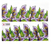 1 Sheet . Flowers Wraps Decoration Water Transfer Colourful Decals Popular Nail Art Stickers Colour Code37