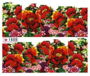 1 Sheet Charming Flowers Self Adhesive Manicure Tips Multi Mix Popular Nail Art Stickers Colour Code16