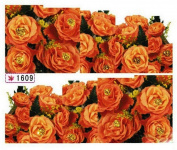 1 Sheet Dazzling Flowers Self Adhesive Wraps Decoration Water Transfer Popular Nail Art Stickers Colour Code17
