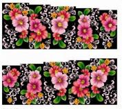 1 Sheet Marvellous Flowers Foils Glitter Wraps Decoration Fashion Design Popular Nail Art Stickers Colour Code31