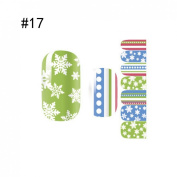 1 Sheet Graceful Popular Nail Art Stickers Decoration Water Transfer Self Adhesive Colour Style Code17