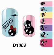 1 Pcs Lovely Manicure Wraps Colourful Adhesive Water Transfer Popular Nail Art Stickers Style Code D1002