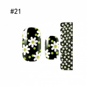 1 Sheet Marvellous Popular Nail Art Stickers Foils Glitter 3D Colourful Acrylic Decals Colour Style Code21