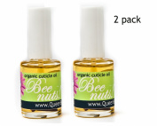 Bee Nuts! Organic Cuticle Oil Heals Redness and Pain Quickly. Special 2 Pack From Queen Bee