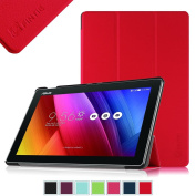 Fintie ASUS ZenPad 10 Case - SmartShell Case for ASUS ZenPad 10.1 Z300C / Z300CG / Z300CL, Ultra Slim Lightweight Stand Cover with Auto Sleep / Wake Feature, Red