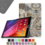 Fintie ASUS ZenPad S 8.0 (Z580C / Z580CA) SmartShell Case - Ultra Slim Lightweight Stand Cover with Auto Sleep / Wake for 2015 Released ASUS ZenPad S 8.0 Z580C / Z580CA 20cm Android Tablet, Map White