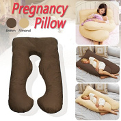 F2C Almond 2in1 Pregnancy Support Pillow Nursing Maternity Sleep Support Baby