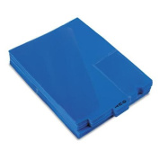 Pendaflex 13542 End Tab Vinyl Outguides w/Centre Tab Printed Out, Letter Size, Blue, 50/box