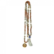 Odishabazaar Cat's Eye Rudraksha Hand Knotted Japa Mala 108+1 Evil Eye Guru Bead with Swastik Pendant - Symbols of Courage and Power