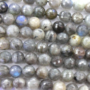 Faceted Natural Labradorite Round 8mm Findings Jewerlry Making Gemstone Beads