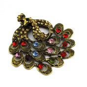 PendantScarf Antique Bronze Classical Peacock Jewellery Necklace Pendant