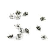 55 Pieces Jewellery Making Charms Retro Silver Tone for Necklace Pendant Bracelet Findings Vintage Bijoux Breloques Bulk 19852 Flower Earrings