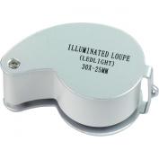 HTS 201X3 30x 25mm White Illuminated Jeweller's Loupe