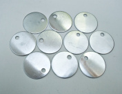 10 Round Aluminium Stamping Blanks with Hole - Medium