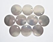 10 Round Aluminium Stamping Blanks with Hole - Large