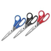All Purpose Scissors, 20cm Straight, 3/PK, Assorted, Sold as 1 Package, 3 Each per Package