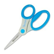 Scissors, w/ Microban, 15cm Straight, Assorted Handles, Sold as 1 Each