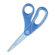 Bent Scissors, Microban Protection, 20cm L, Blue, Sold as 1 Each
