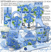 September Birth Flower and Gem Printable Crafts Cd-rom