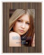 ZEBRA STRIPE wood with silver trim by Dennis Daniels® - 4x6
