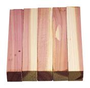 North American Red Cedar Wood Turning Pen Blanks | Wood Pen Blanks 5 Pack | 1.9cm X 1.9cm X 13cm