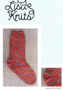 Boomerang Sock - Toe Up - Lisa's Knits Knitting Pattern SK-027