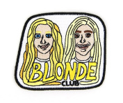 Blond Club Embroidered Sew or Iron-on Backing Patch