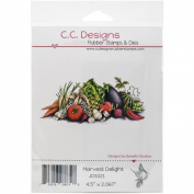 C.C. Designs DoveArt Harvest Delight Cling Stamp, 11cm x 5.1cm