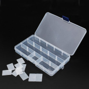 DCDEAL 15 Compartments Adjustable Plastic Electronics Parts Gadgets Tool Storage Box Case Craft Beads Jewellery Box Sewing Box Organiser Container Divider
