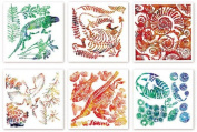 Fossil Rubbing Plates - Science Art & Craft 6 Pk